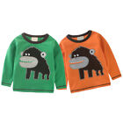 Baby Kids T-shirt Cute Cartoon Cotton Top Round Collar Long Sleeve Sweatshirt