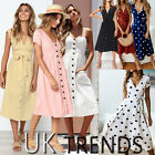 UK Womens Mini Ladies Dress Floral Print Ruffle V Summer Beach Holiday Size 6-14