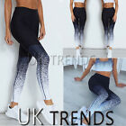 UK Womens Yoga Leggings Ladies Trackpants Active Gym Ombre Trousers Size 6-14