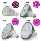 30/50/80/100W LED Grow Light E27 Full Spectrum LED Plants Growing Lamp Bulb USA