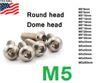 Внешний вид - M5x0.8 5mm metric 6-80mm Stainless Steel Button head Hex bolt Dome  Allen Screw