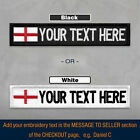 Custom Patch FLAG Embroidered Personalised TAG NAME TEXT National Country Badge