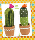 Fun And Funky Knitted Fabric Cactus - Sass & Belle - Choose Your Favourite One!