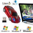Cordless 2.4Ghz Wireless Car Optical Mouse Computer Laptop Mice +USB Receiver US