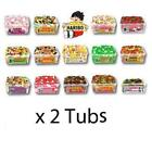 2 FULL TUBS OF HARIBO SWEETS Wholesale Retro Party Gift