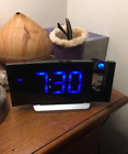 BEST digital Projection Clock Indoor for bedroom fm radio alarm usb charge Sound