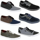 mens Rock & Religion pumps trainers plimsolls shoes leather suede look lace up