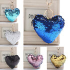 1PC Key Ring Glitter Heart Shape Sequin Keychains Gifts Bag Pendant Accessories
