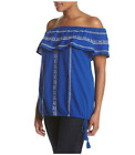 Ruff Hewn Womens Plus Size Embroidered Off Shoulder Peasant Top  MSRP $69.00