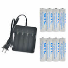 18650 Battery 10000mAh Li-ion 3.7V Rechargeable Batteries for LED Flashlight USA