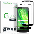 Moto G6 / G6 Play amFilm Full Cover Tempered Glass Screen Protector (2 Pack)