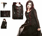 Jordash Dark Star Gothic Fleur Buckle Blouse With Cobweb Sleeves Goth