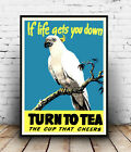 Turn to Tea : Vintage advert, poster, Wall art, poster, reproduction.