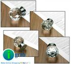 10x Clear Crystal Glass Door Knob Drawer Cabinet Handle green brown blue  30mm