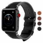For Apple Watch iWatch Series 3 2 1 Genuine Leather Band 38mm 42mm Wrist Strap