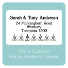 100 personalised WEDDING labels STICKERS BOMBONIERE FAVOURS STICKY LABELS white