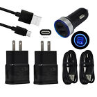 Wall Fast Car Charger Set for LG Stylo 4 ZTE Zmax Pro Blade