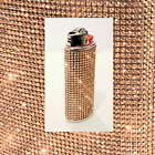 Rose Gold Clear AB Crystal BLING Rhinestone BIC Lighter Cover FREE SHIPPING