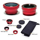 3 In 1 Fish Eye Wide Angle Macro Camera Lens telefon Kit Set For Mobile Phone
