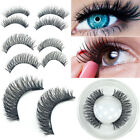 Double Magnetic False Eyelashes 4Pcs/pair Reusable 3D Fake Eye Lashes Extension
