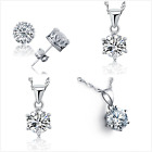 UK Sterling Silver Jewellery Set Made with Swarovski Gift Boxed