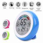 LCD Touch Screen Round Shape Digital Electronic Temperature Humidity Monitor#@