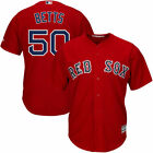 Mens Boston Red Sox Mookie Betts 50 red Cool Base Jersey M 3XL