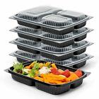 Meal Prep 1,2,3 Compartment Food Containers Box Microwavable Stackable BPA Free