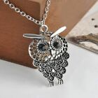 Bijoux Gift Jewelry Owl Pendant Necklace Long Chain Hollow Out Sweater Chain