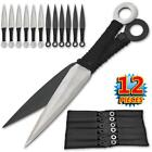 12PC Stainless Steel Throwing Thrower Knives / Wrist Carrying Case Sheath