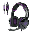 Mic Gaming Headset Stereo Sound Headphone Wireless Wired Mouse Mice Fr Laptop PC