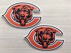 2x Chicago Bears Car Bumper Laptop Window Wall Vinyl Die Cut Stickers Decals