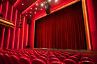 soundproof drapes - THEATER PANEL | COTTON VELVET CURTAIN SOUNDPROOF STAGE THEATRE DRAPE | BURGUNDY