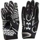 new youth/boys S or L under armour UA F5 football gloves 1271185-001 black/white
