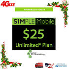 🔥SIMPLE MOBILE 🔥 PRELOADED SIM CARD 🔥FIRST MONTH PLAN INCLUDED🔥