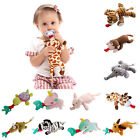 Newborn Baby Dummy Pacifier Chain Clip Plush Animal Toys Soother Nipples Holder