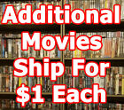 HUGE DVD Selection! Family/Action/Drama/Horror P-S $3 Shipping + $1ea additional