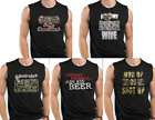 Muscle Shirts Camo is New Black Love My Crazy Red Neck Wife Mud up or Shut up