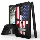 For ZTE Blade X Max,Max XL,Blade Max 3 Armor Case US Flag Punisher/ Camo/ Cowboy