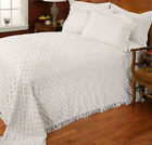 Stylemaster Diamond White Cotton Chenille Bedspread and Sham Set  image