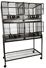 4 Unit Cage with Stand and Removable Divider 4020-2 Platinum