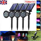 Solar 7 LED Spot Lights Wall Lights Garden Light Outdoor Waterproof Yard Lamps