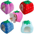 Soft Strawberry Pet Dog Cat Bed Puppy House Kennel Warm Cushion Basket Pad S M L