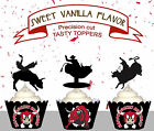 Cowboy bucking mechanical bull Birthday Party Wild West Cupcake Toppers cup cake
