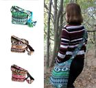 Jacquard Style Students Bags Pockets Straps Lining Zips Pockets Multi Coloured