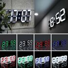 Modern Digital LED Desk Room Clock Watches Alarm Snooze Night Home Office HL
