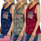 American Flag Graphic Camouflage Crop Top USA 4th of July Top S M L XL US STOCK