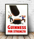Guinness for strength : Vintage advertising , poster, Wall art, reproduction.