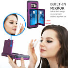 Wallet Card Holder Shockproof TPU Bumper With Mirror For Samsung Galaxy S8 /S8+