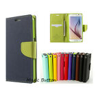 Leather Wallet Card Slot Soft Gel Bumper Case For Sumsang S8 / Plus S7 S6 / edge